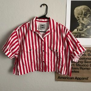 VINTAGE / crop sailor shirt